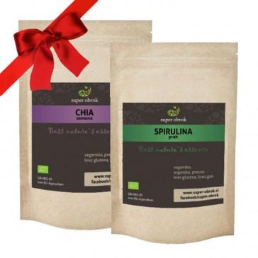 Spirulina in Chia semena - Paket za tekače