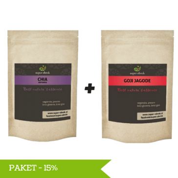 Paket Chia semena in Goji jagode